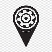 Ícone do ponteiro do mapa