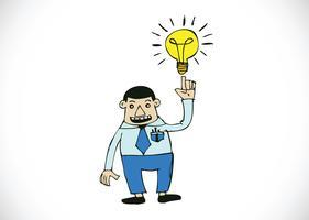 Homme de bande dessinée pensant style illustration