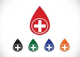 Blood drop icons set