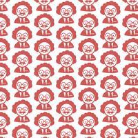 Pattern background Scientist Or Professor icon vector