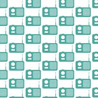 radio pattern background vector