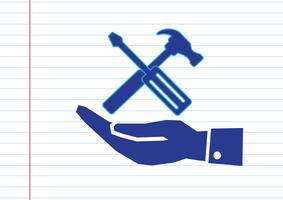 Hand and Tools Hammer icon