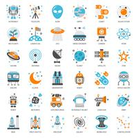 Astronomy flat icon vector