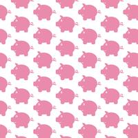 Piggy Bank pattern background