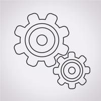 Engrenagem, símbolo, sinal símbolo