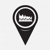 Map Pointer Graph Icon
