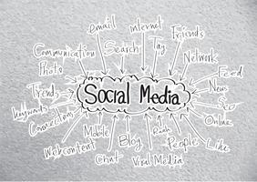 Diseño de idea de redes sociales. vector