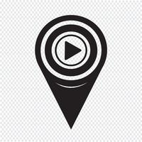 Map Pointer Play Icon