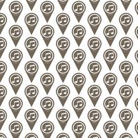 Pattern background Map pointer icon vector