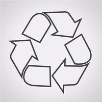 Recycle pictogram symbool teken