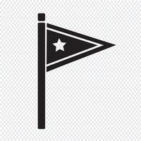 flag icon  symbol sign vector