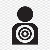 Zielsymbol Hintergrund