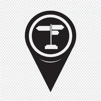 Kartenzeiger Wegweiser-Symbol
