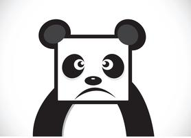 Panda cartoon character