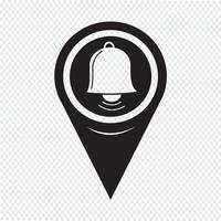 Map Pointer Bell Icon
