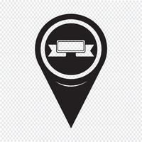 Kartenzeiger Ribbon-Symbol
