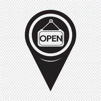 Map Pointer Open Icon