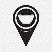 Kaart aanwijzer kom pictogram