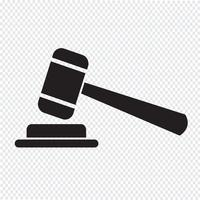 gavel icon  symbol sign