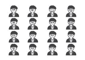 Cartoon faces Set illustration dessin