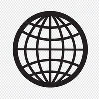Signe symbole icône globe