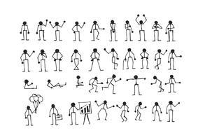 Pittogramma di simbolo del segno di azioni della gente