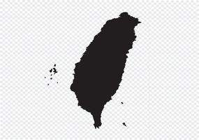Carte de Taiwan symbole signe