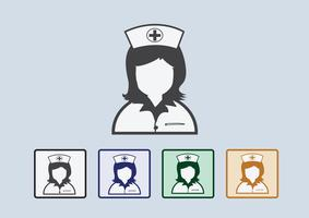 Nurses icons  Symbol Sign