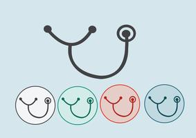 stethoscope icons  Symbol Sign vector