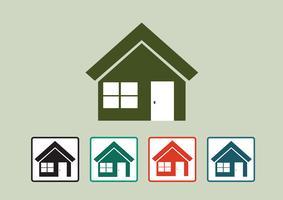Icône de la maison et concept immobilier