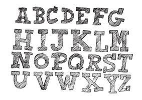 Hand gezeichneter Buchstabeguß geschrieben mit einem Stift