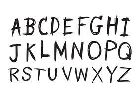 Fonte de mão desenhada letras escrita com uma caneta