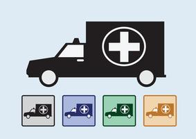 ambulance car sign medical  vector