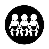 Red de iconos de bebe
