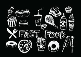 fast food icons vector symbols
