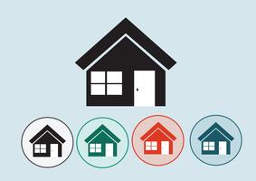 Home icon and Real estate concept vector