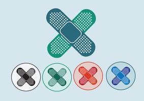 illustration av medicinskt bandage