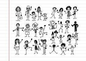 Iconos de actividad de personas en ilustración