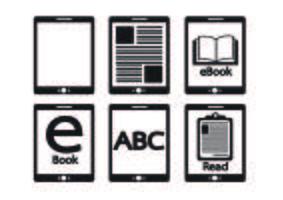 E-boek lezer en e-lezer pictogrammen instellen