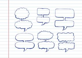 Sketch hand drawn bubble speech