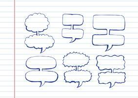 Discorso bolla disegnata a mano di schizzo