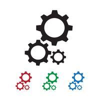 Icono de engranaje símbolo de signo