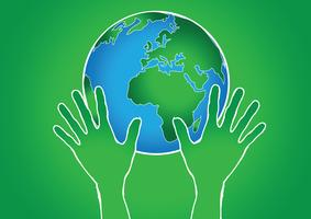 Hand Holding World and globe hands idea
