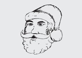 Papai Noel para mão de Natal desenhada