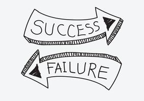 Success and  Failure sign symbol vector