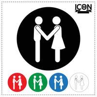 Icona della stretta di mano della gente