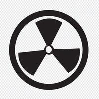 Icono de signo de radiactividad