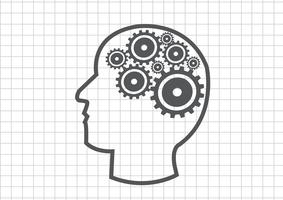 Gehirn-Ideenkonzept des menschlichen Kopfes und der Gänge