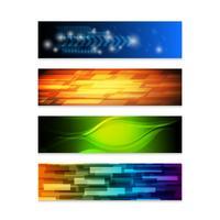 conjunto de banners web