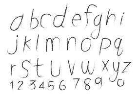 Alfabeto de mão desenhada letras escrito com pincel